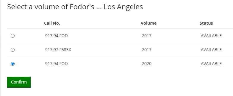 Select a volume