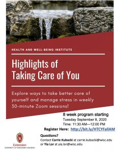 Taking Care of You course click for link